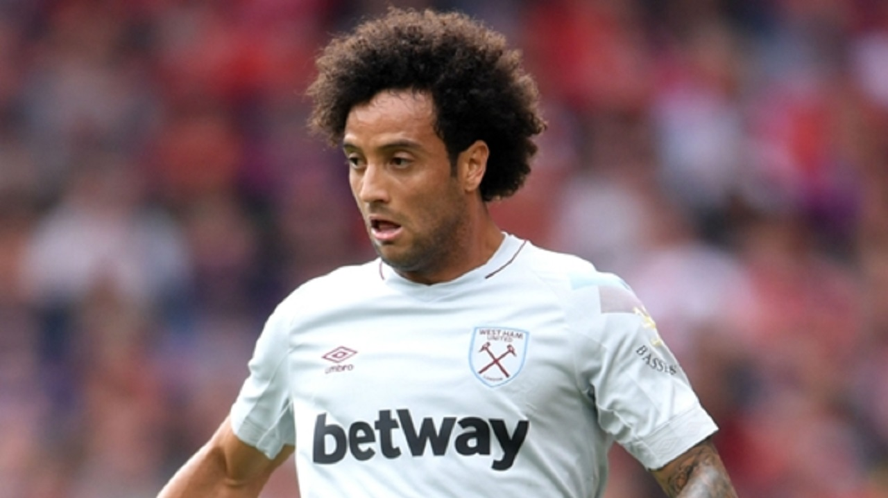 Felipe Anderson in action for West Ham.
