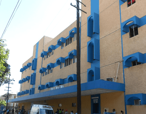 A section of the Kingston Public Hospital (KPH), the country's main public health facility.