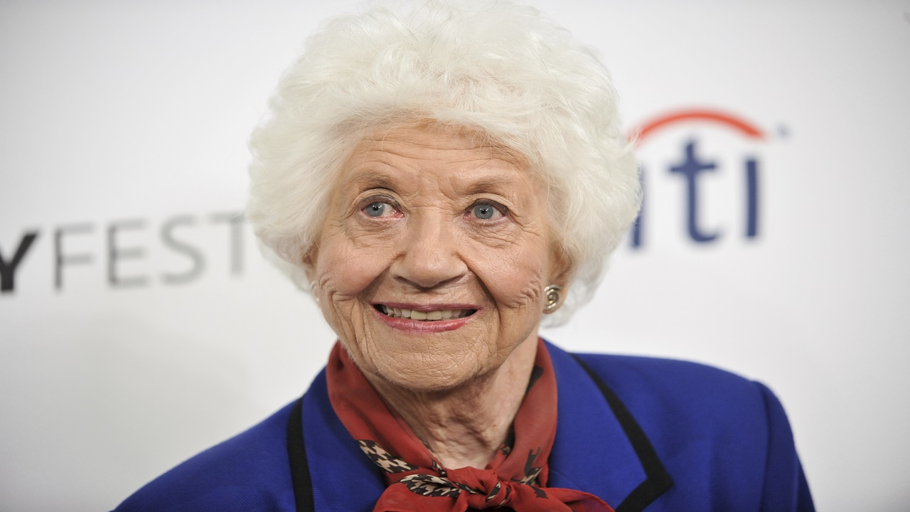"In this September 15, 2014 file photo, Charlotte Rae arrives at the 2014 PALEYFEST Fall TV Previews - ""The Facts of Life"" Reunion in Beverly Hills, California."