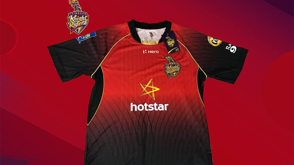 The official 2018 Trinbago Knight Riders jersey.