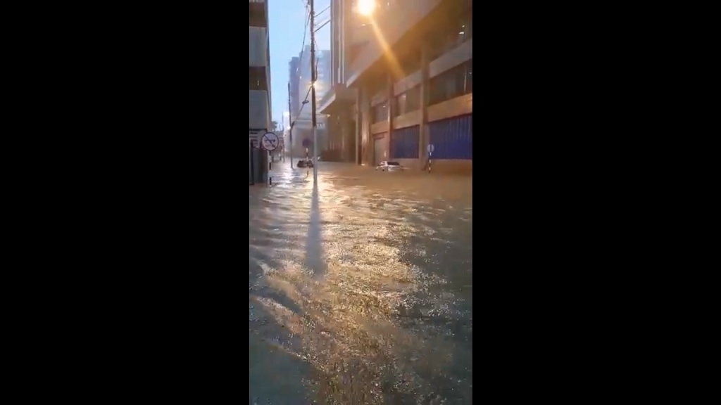 Flooding in Port of Spain.