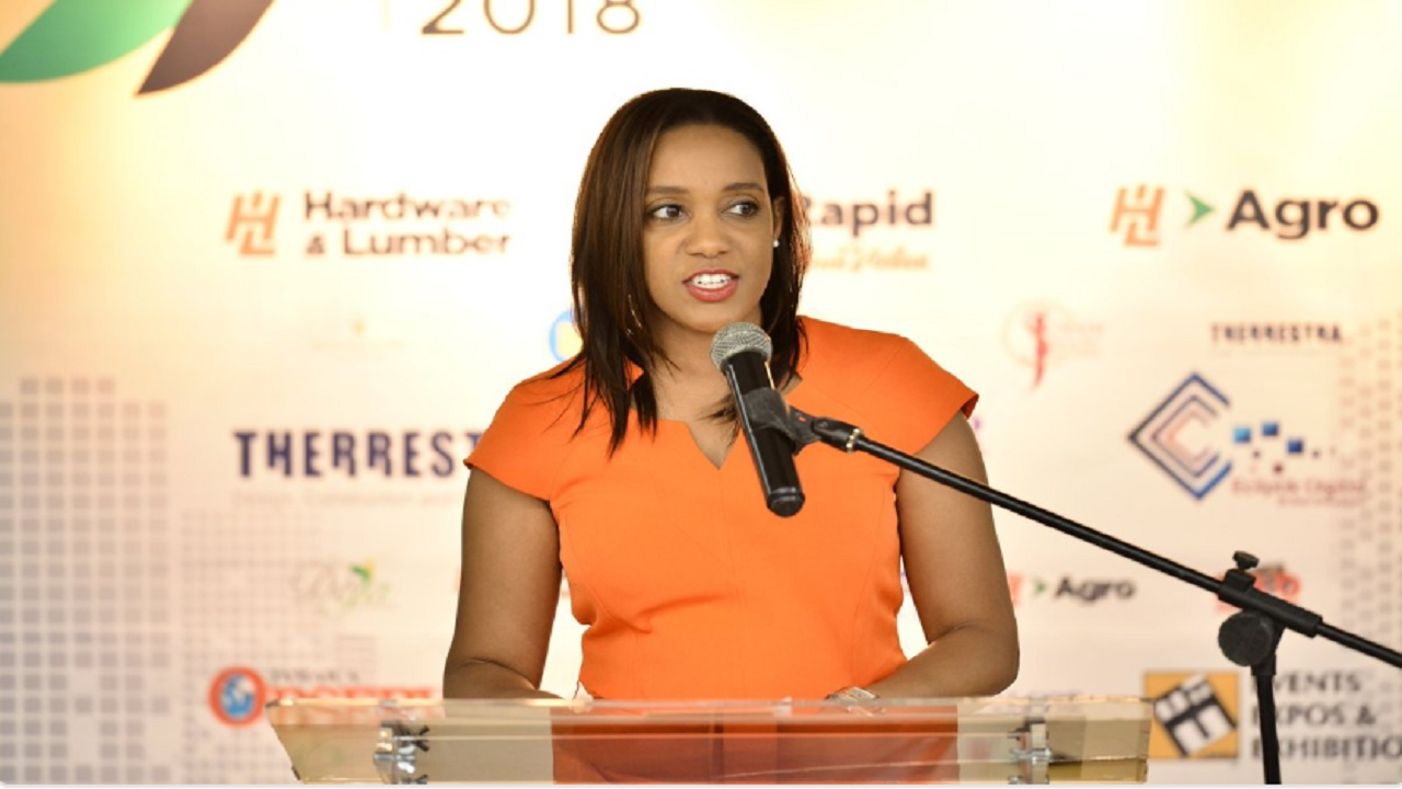 Zimmer CEO, T'Shura Gibbs. (Photo credit: Build Expo Jamaica.