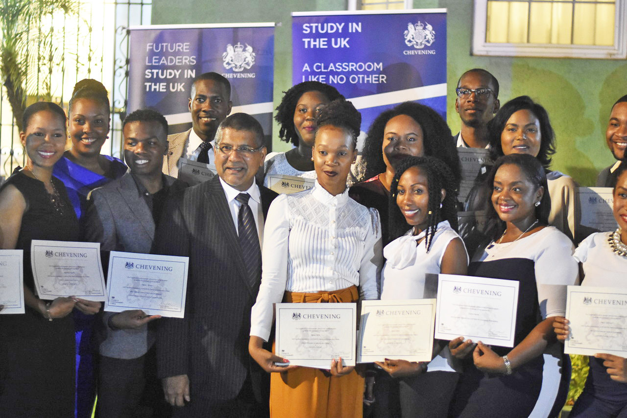 British High Commissioner Asif Ahmad hosted a reception for this year's cohort of Chevening Scholars. Photos: Marlon Reid.