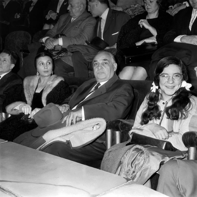 Joseph et Rosa Bouglione (à gauche) en 1963 à Paris au cirque Medrano