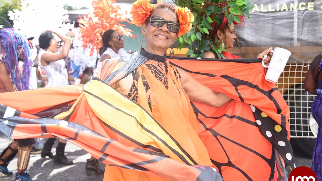 The Come TT campaign ais to show the diversity of the T&T Carnival experience. In this 2017 photo a masquerader from K2K is caught on camera.