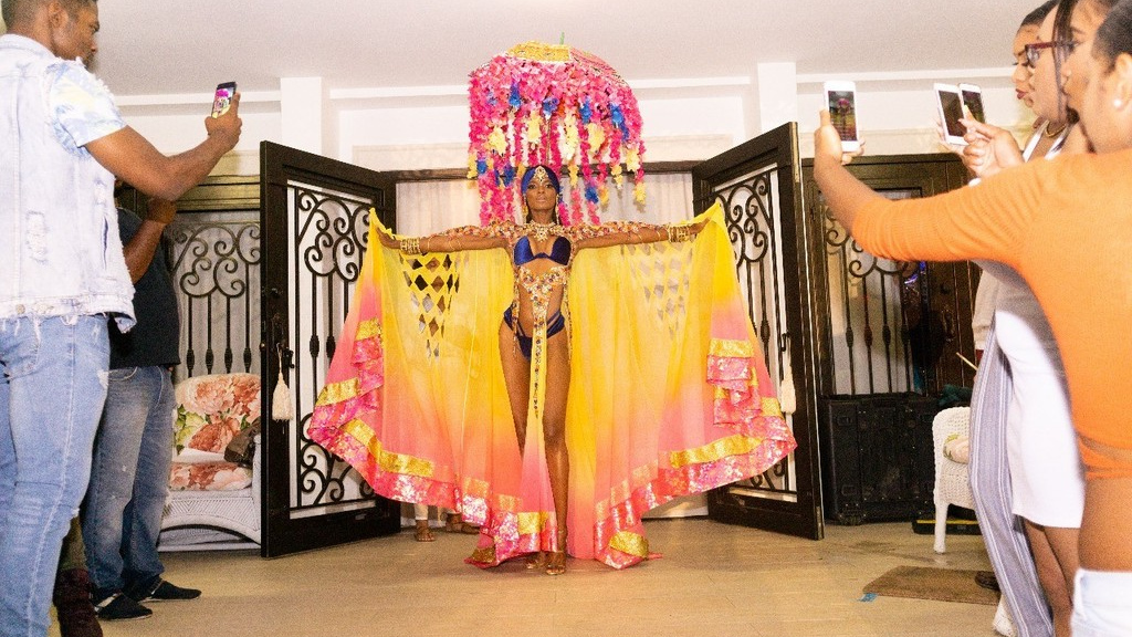 The Lost Tribe was among the Tribe bands that gave a sneak peek of their presentations for Carnival 2019 on Friday night. PHOTO courtesy Tribe.