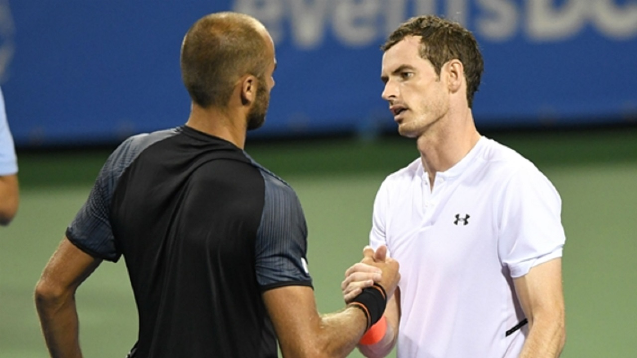 Andy Murray after his dramatic win over Marius Copil.
