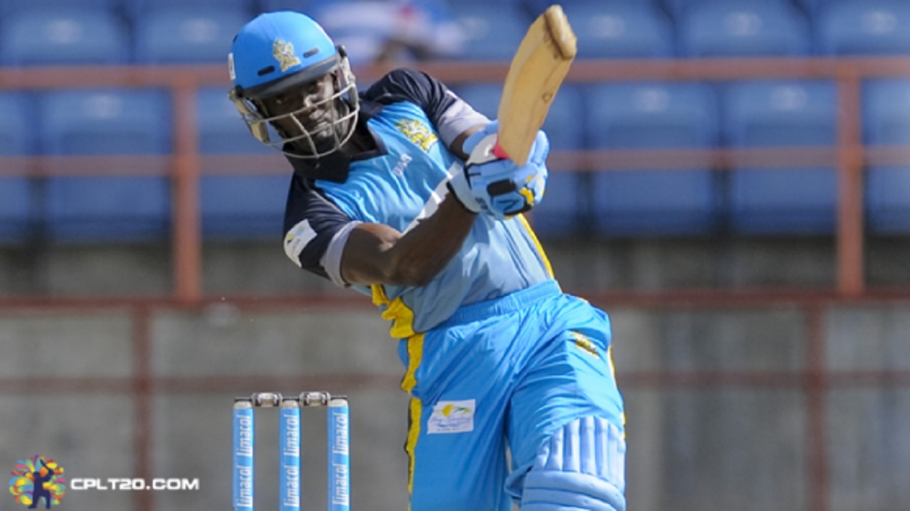 Andre Fletcher topscored for St Lucia Stars with 43 runs.