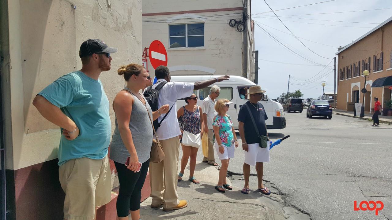 Tourists on the Bridgetown Heritage Walk Tour. (FILE)