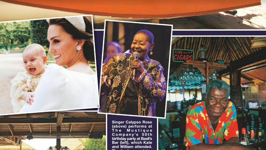 Calypso Rose featured in Hello Magazine after performing in Mustique.