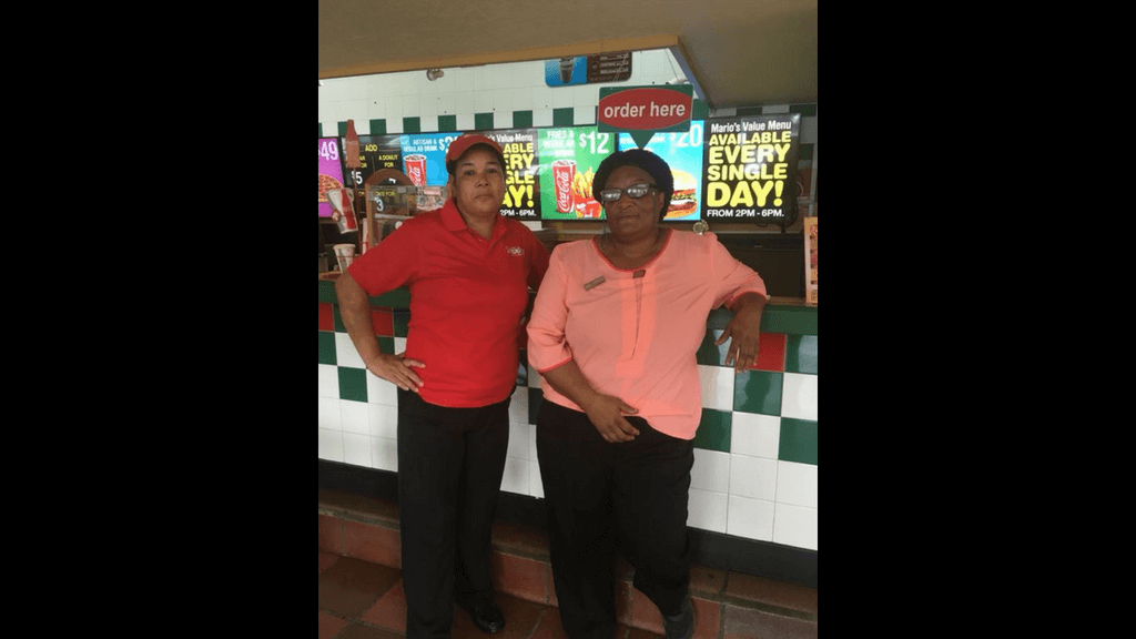Mario's employee Laura Salina and Manager Marlene Gomez. Photo via Mario's Pizza, Facebook
