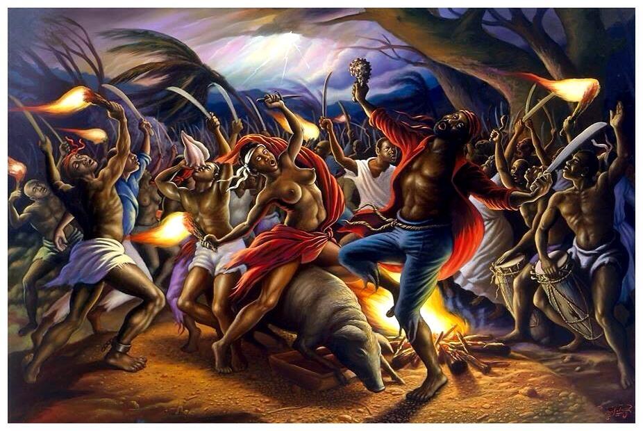 Illustration de la Cérémonie du Bois-Caïman - Crédit : Duke University