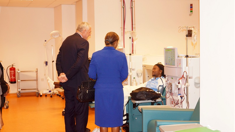 PM Chastanet and Minister of Health Mary Isaac at the opening of the Dialysis Unit at the Owen King-EU Hospital on January 24th 2018