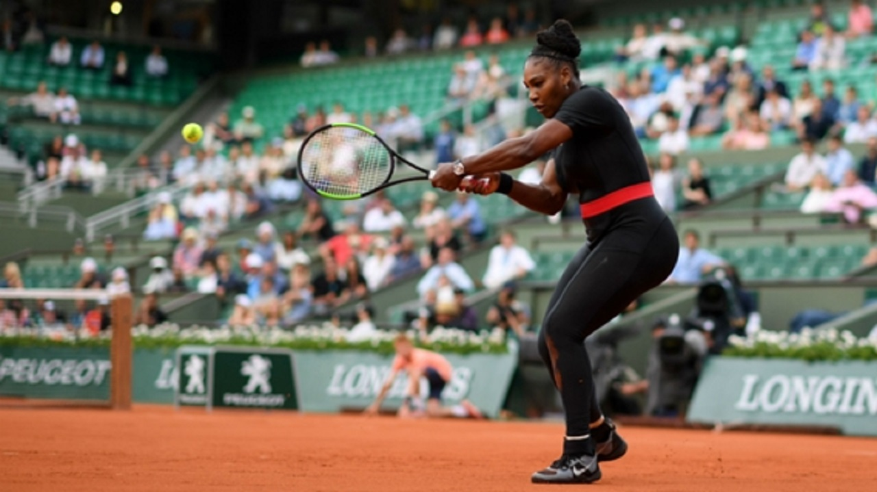 Serena Williams in her French Open catsuit.
