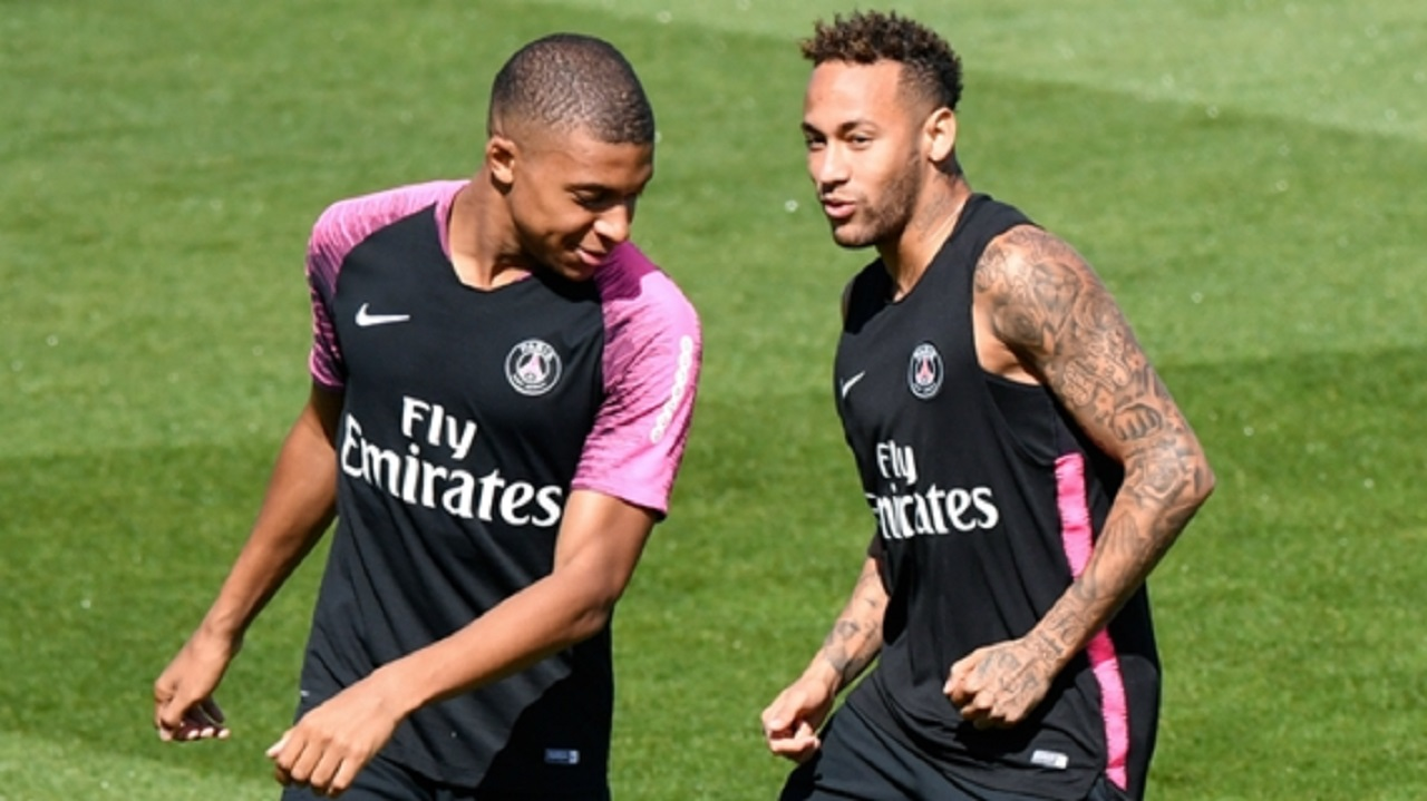 PSG stars Kylian Mbappe and Neymar.
