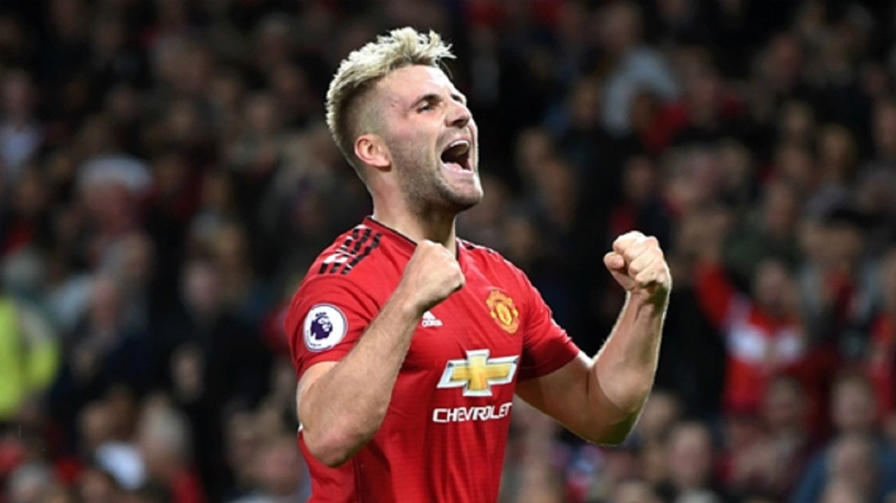 Manchester United and England left-back Luke Shaw.