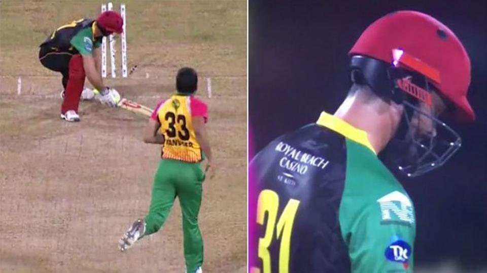 Tanvir's obscene gesture after dismissing Cutting was criticized on social media