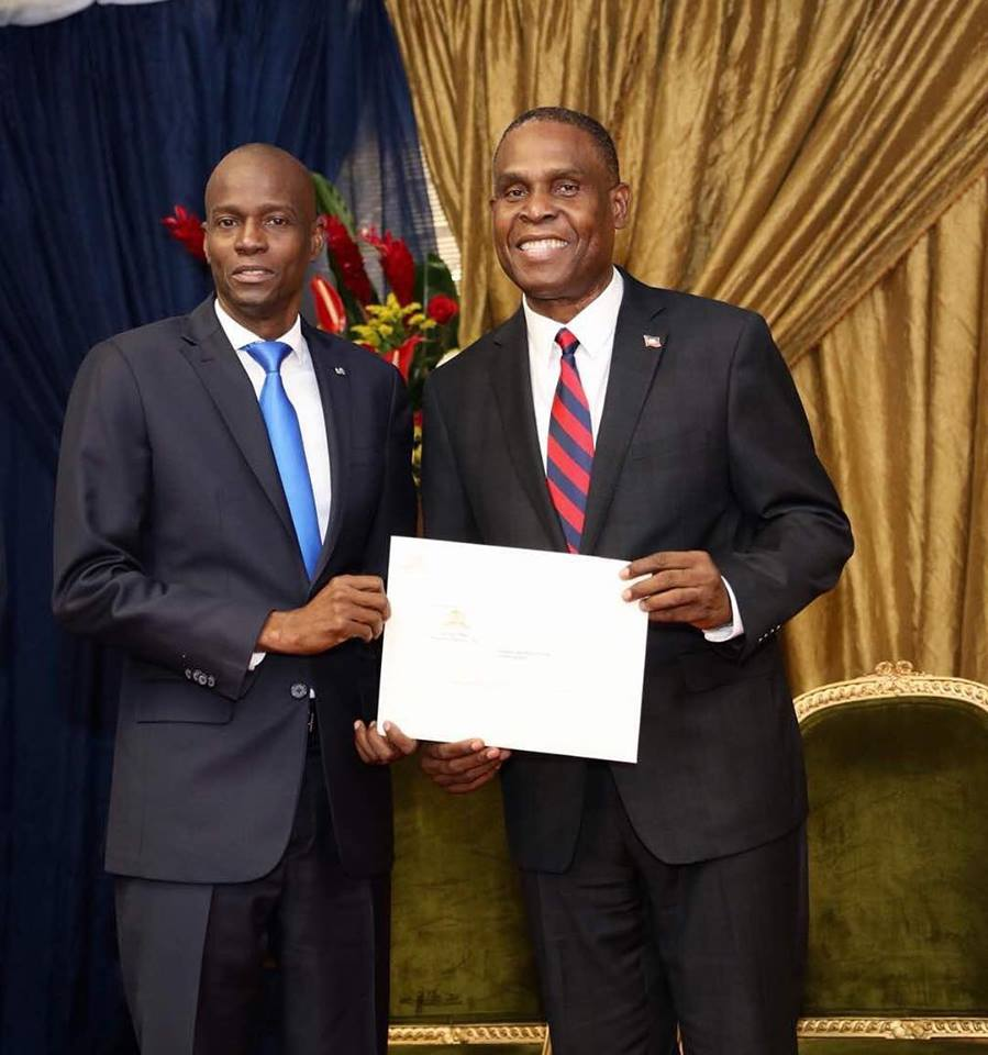 Le président Jovenel Moise et le Premier ministre désigné Jean-Henry Céant