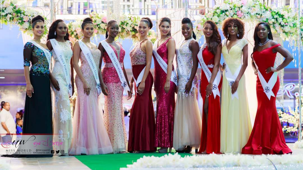 The top 10 finalists of the Miss World Trinidad and Tobago 2018 pageant (Photo: Miss World T&T)