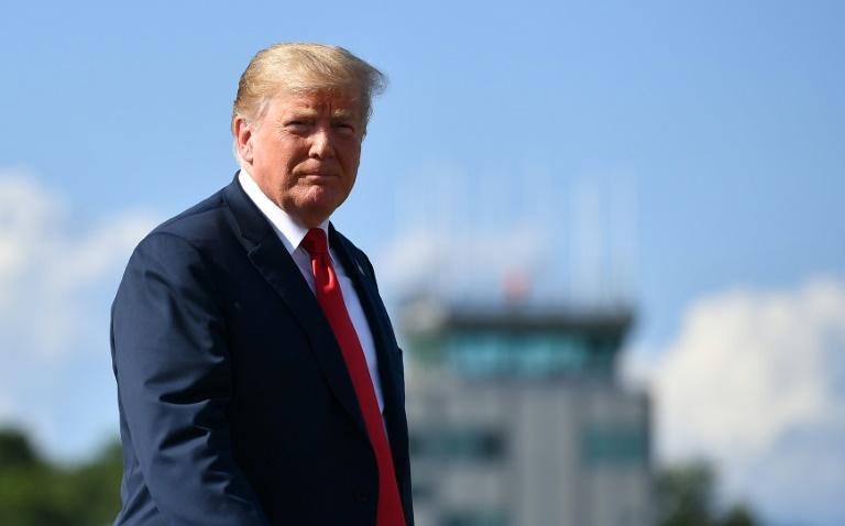 Le président américain Donald Trump à Morristown (New Jersey) le 4 août 2018