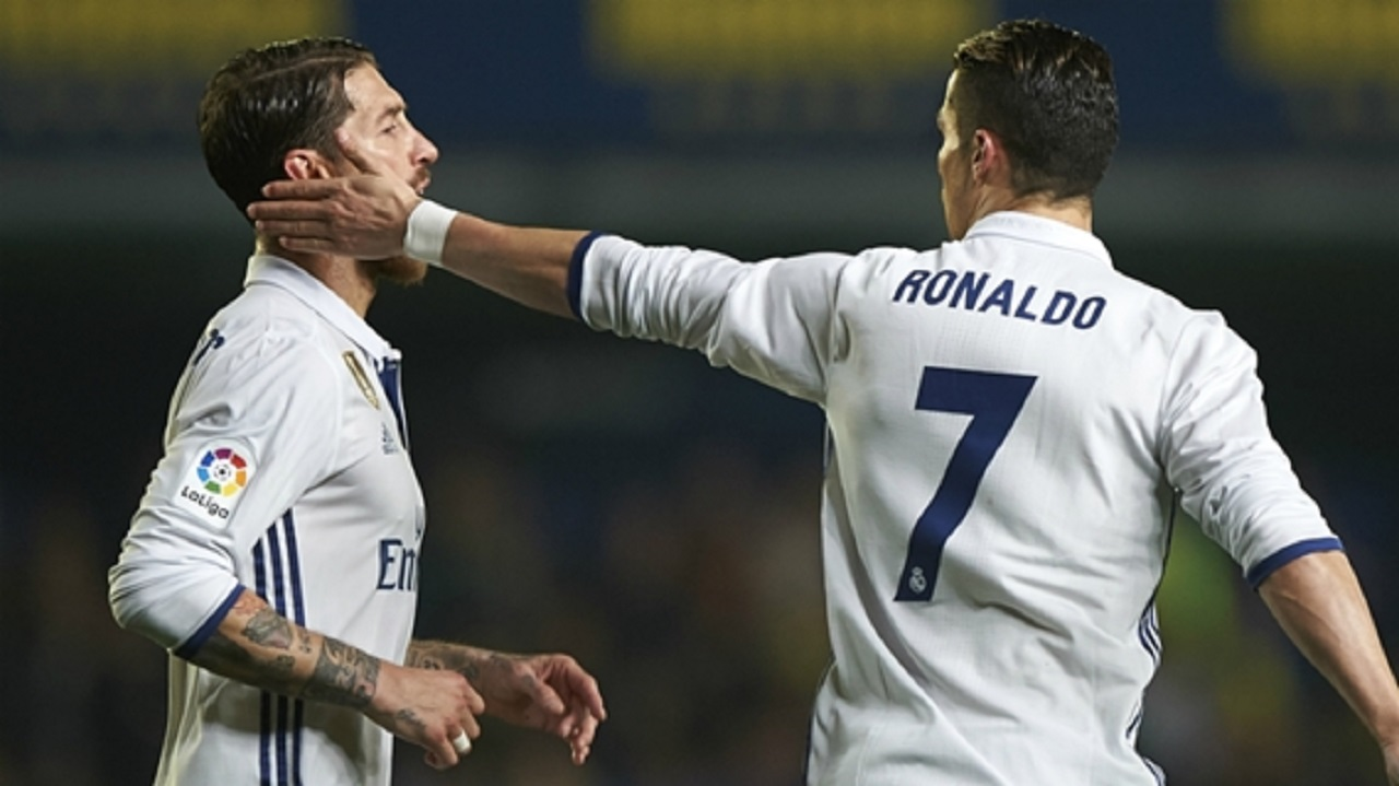 Real Madrid captain Sergio Ramos and team-mate Cristiano Ronaldo.