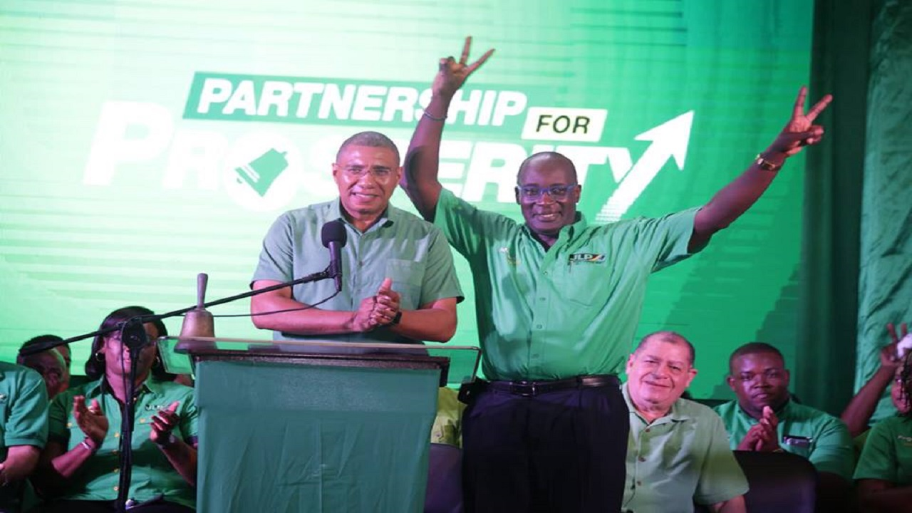 Prime Minister Andrew Holness formally introduced Education Minister, Senator Ruel Reid (right) as the party's candidate for the next general election constitutionally due in 2021. (Photo via Andrew Holness' official Facebook page)