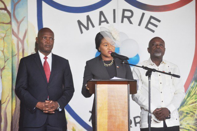 Illustration des représentants de la Mairie de Tabarre Crédit Photo : Compte Twitter de la Mairie