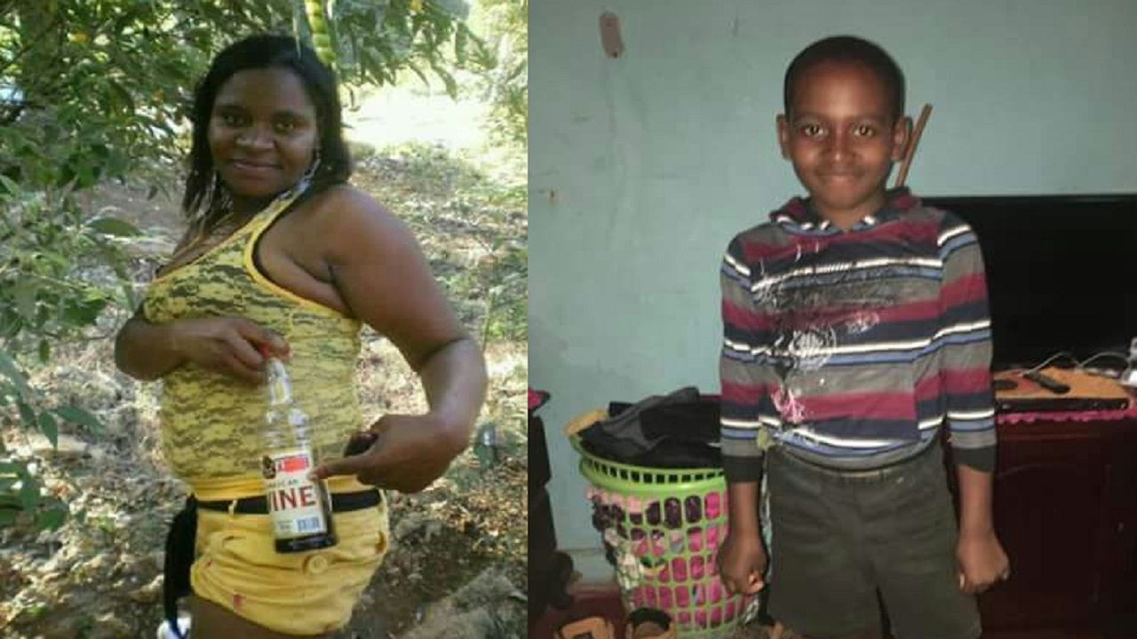 Alesha Francis and her 10-year-old son, Teco Jackson, who were both chopped to death in Linton Park, St Ann on Tuesday night.