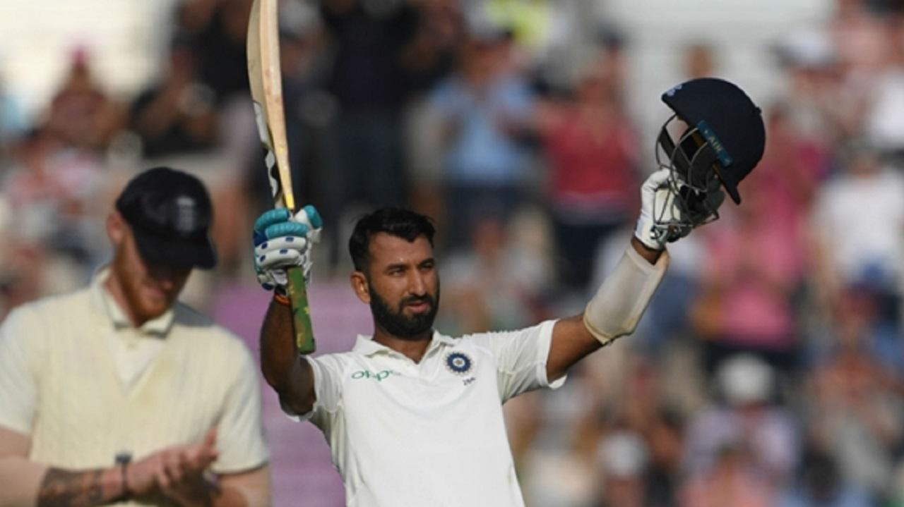 India batsman Cheteshwar Pujara.