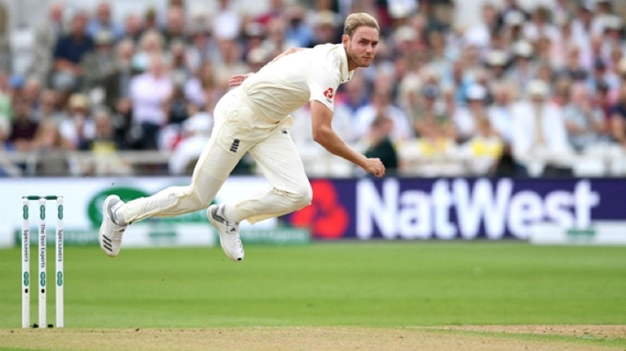 England bowler Stuart Broad.