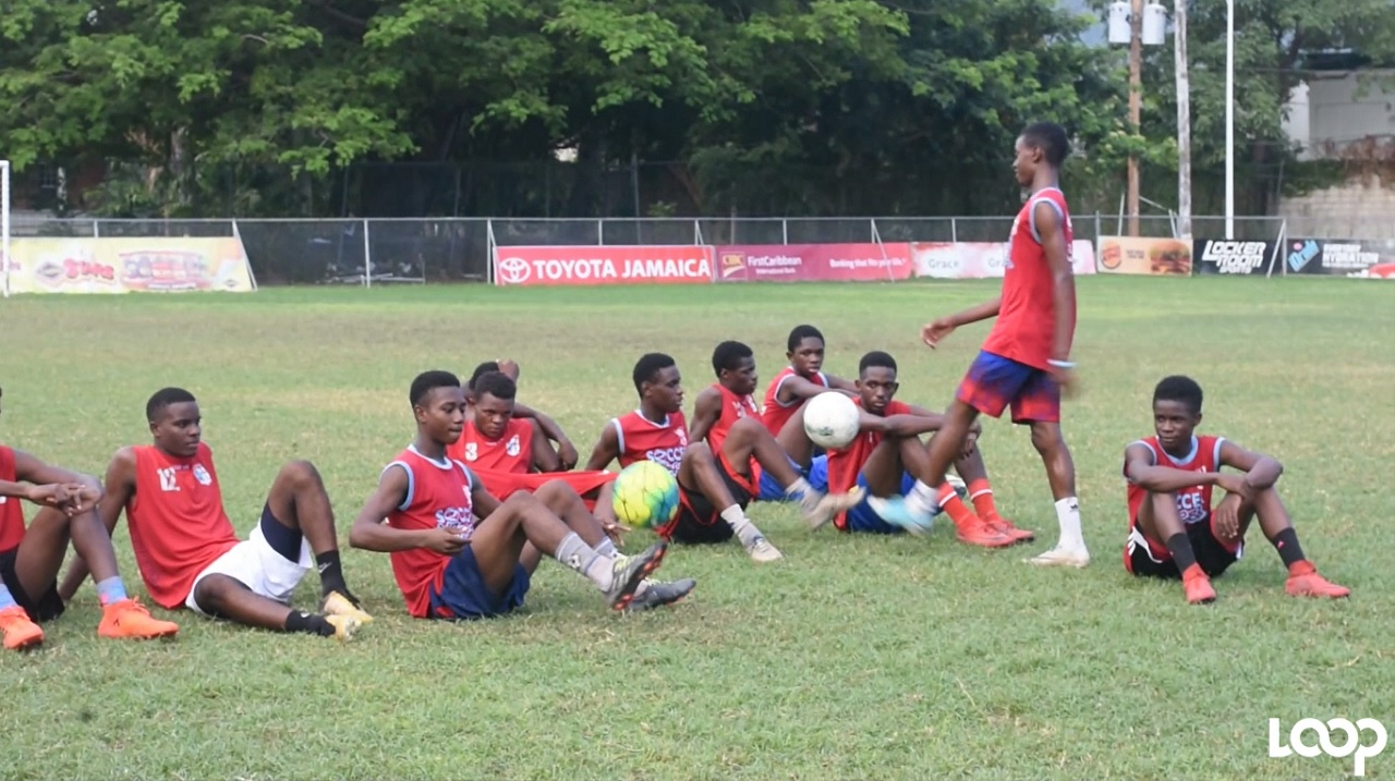 St George's players at a training session last week at their North Street, Kingston base.