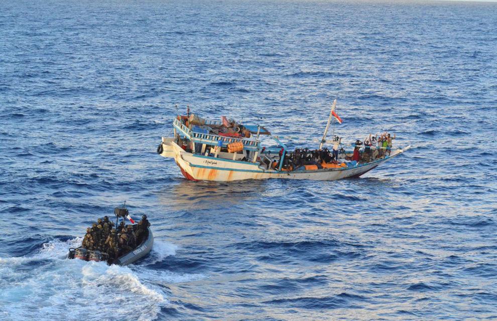 Des Haïtiens déportés au large des côtes de Porto-Rico. Photo: Combats pour les droits de l'homme (CPDH)