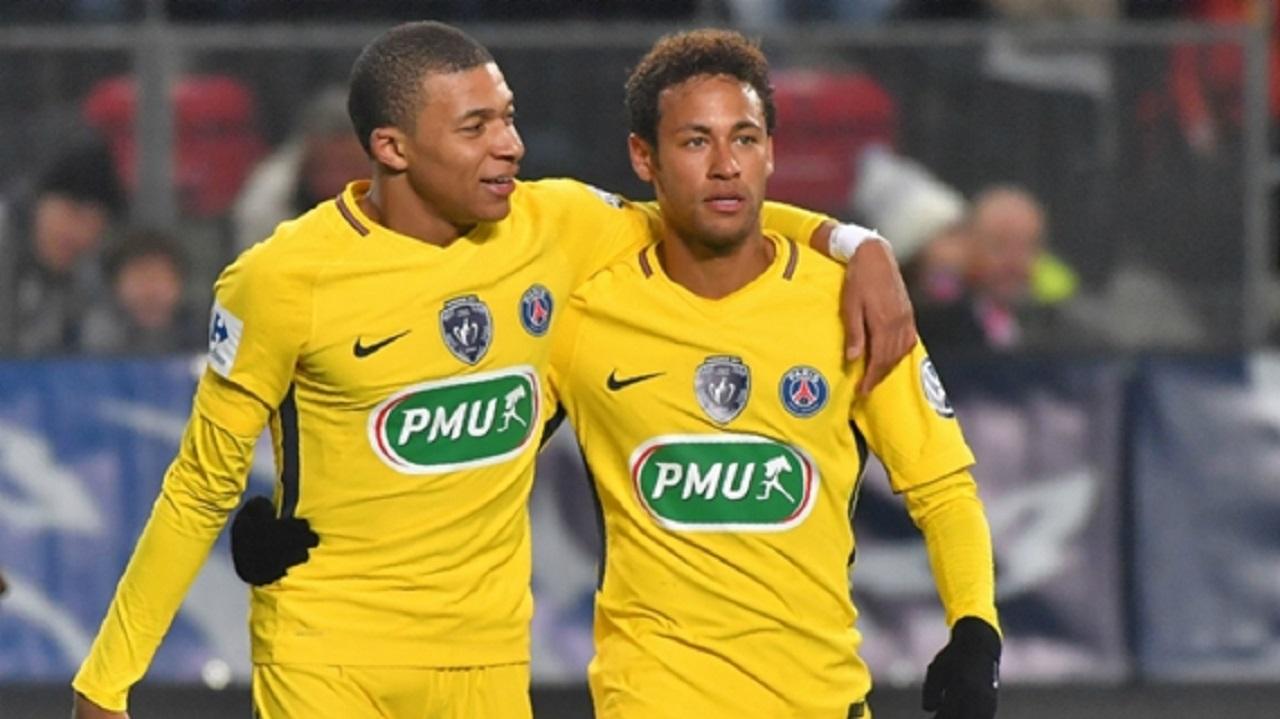 PSG duo Neymar and Kylian Mbappe.