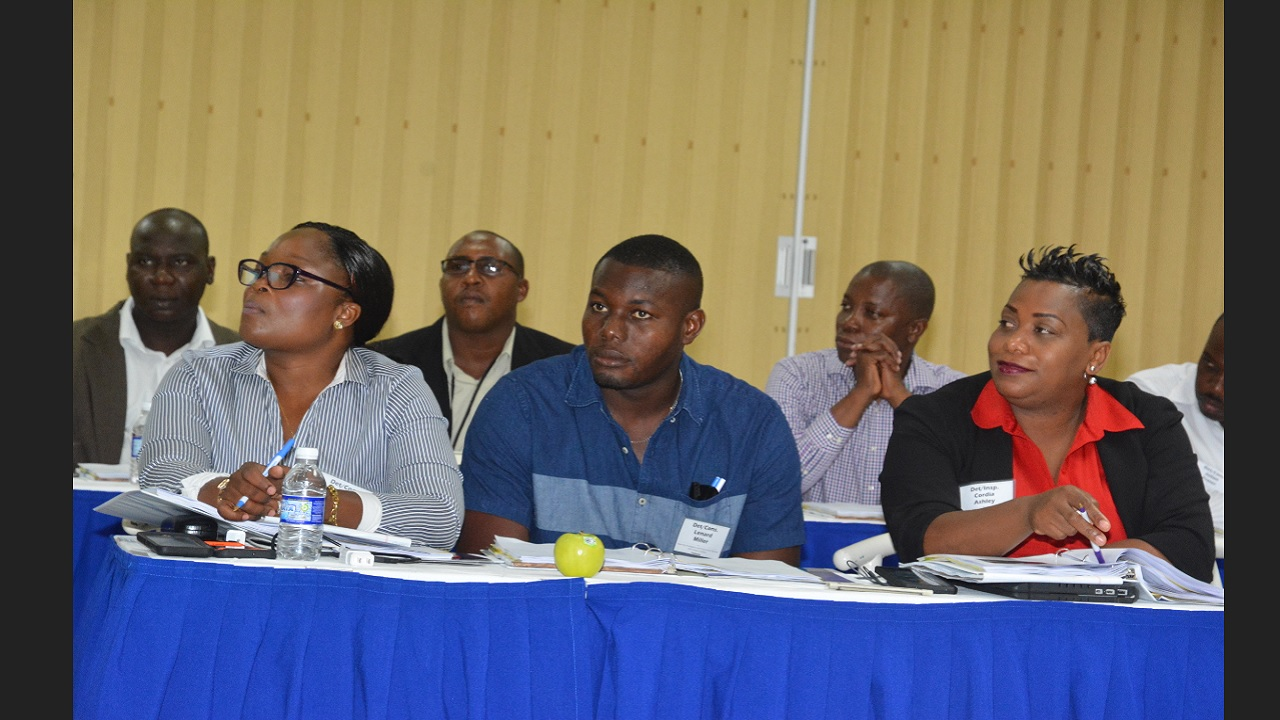 Local police investigators engaged in a presentation at a forensic science training initiative in St Ann over the weekend.