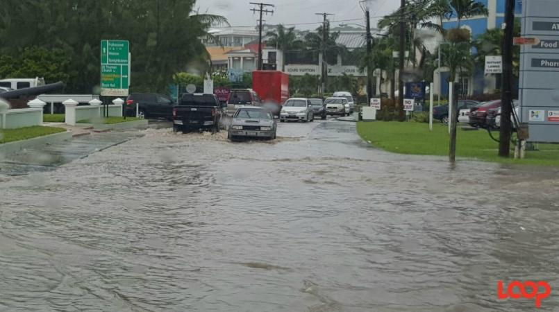 File photo of flooding in Holetown.