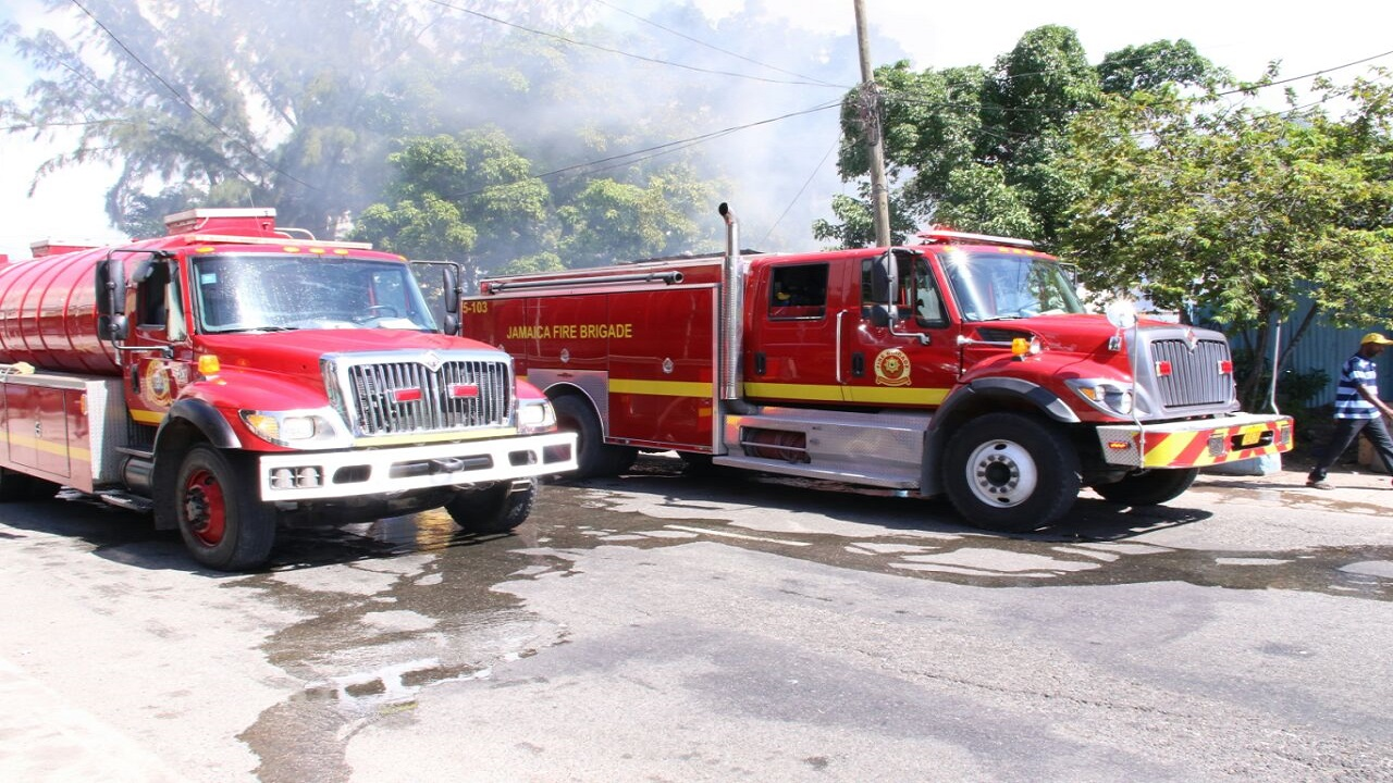 File photo of Jamaica Fire Brigade trucks.