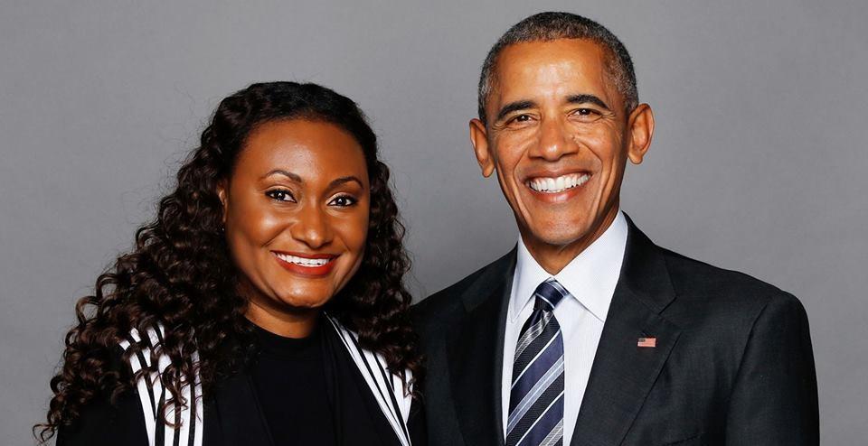 L'actrice Haïtienne  Fabienne Colas et l'Ancien Président Américain Barack Obama