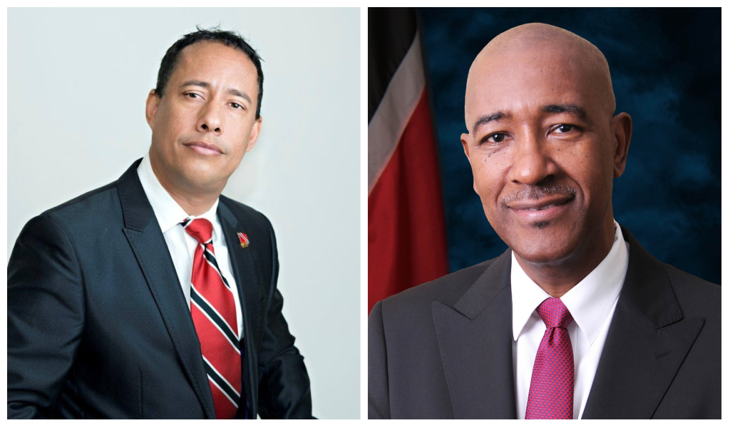 Commissioner of Police, Gary Griffith (L) and Minister of Public Utilities Robert Le Hunte (R)