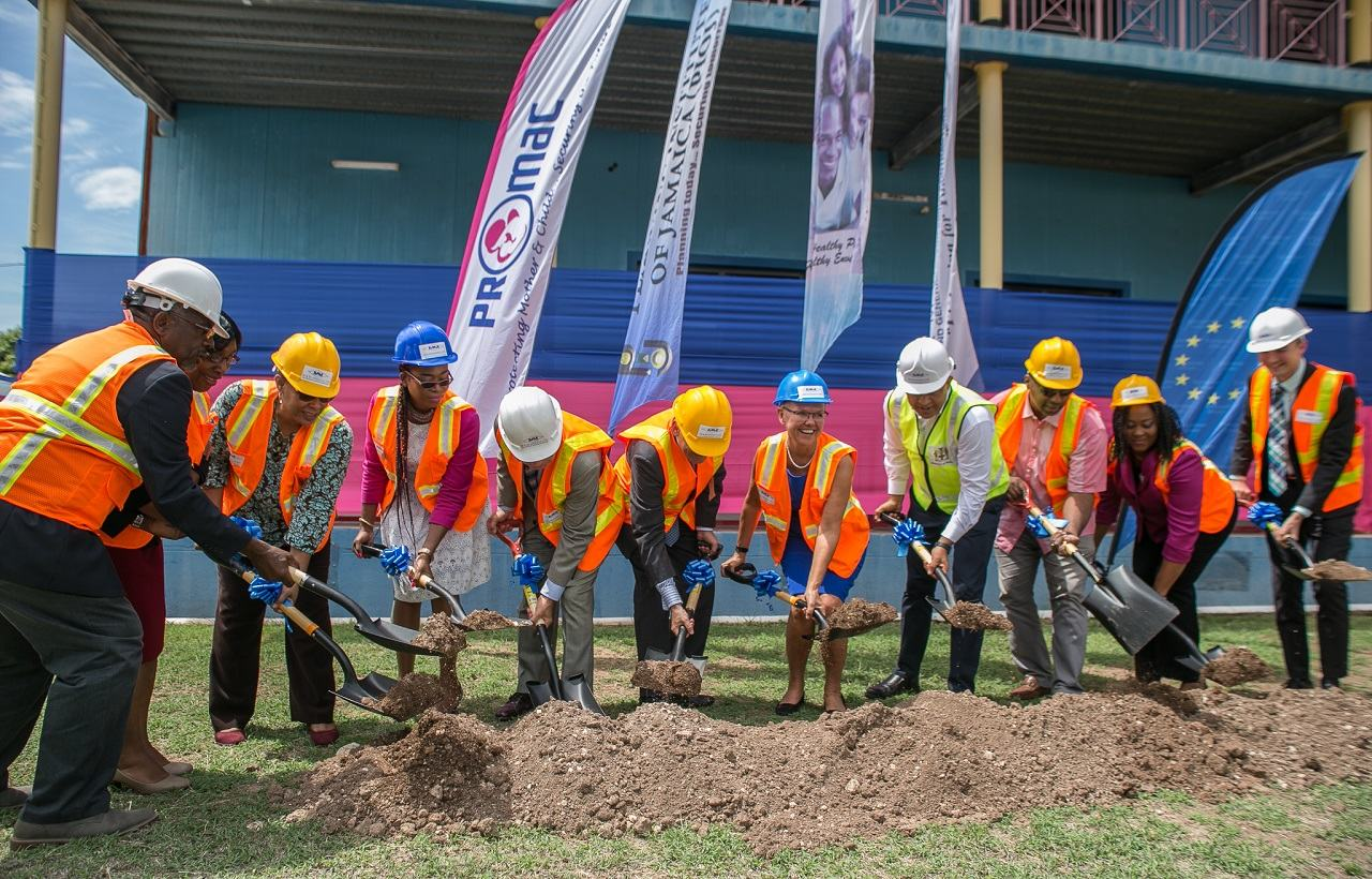 Groundbreaking Ceremony for the Construction of High Dependency Units at Bustamante Hospital for Children, Victoria Jubilee and Cornwall Regional Hospitals.