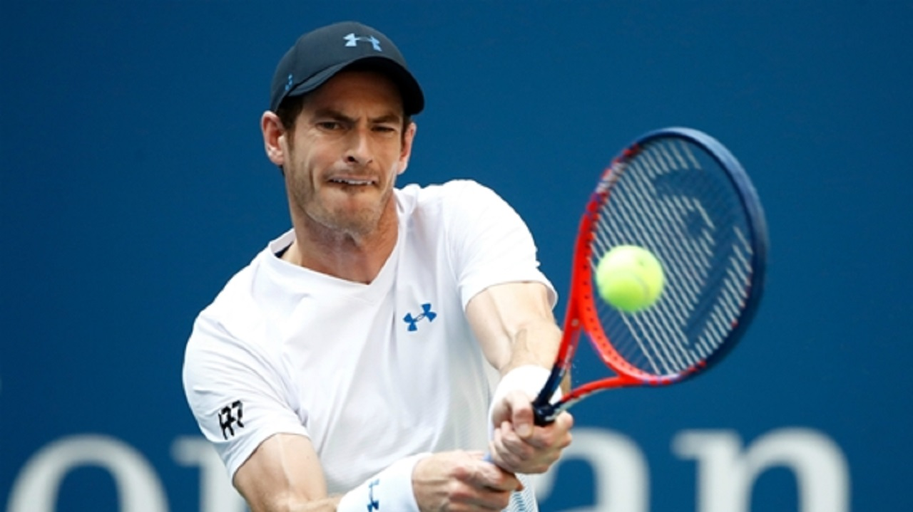 Andy Murray in action.