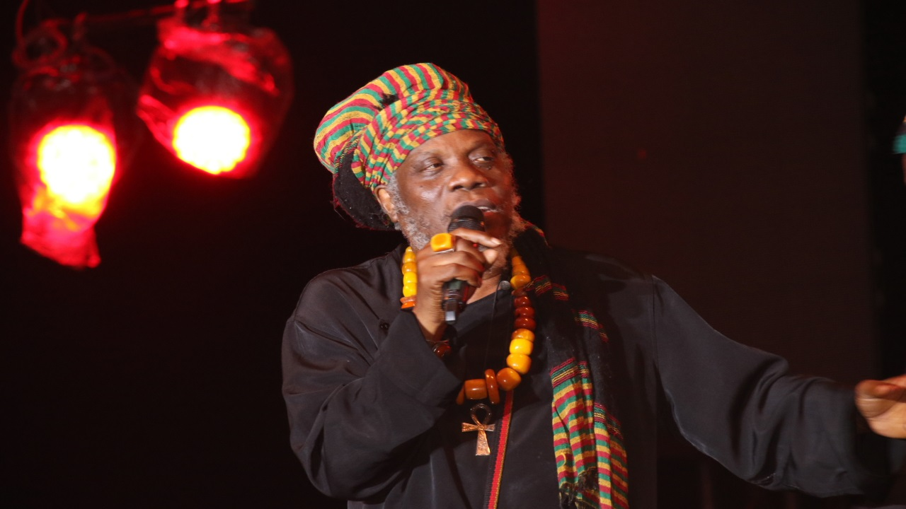 File photo of Mutabaruka at the Rebel Salute reggae festival earlier this year.