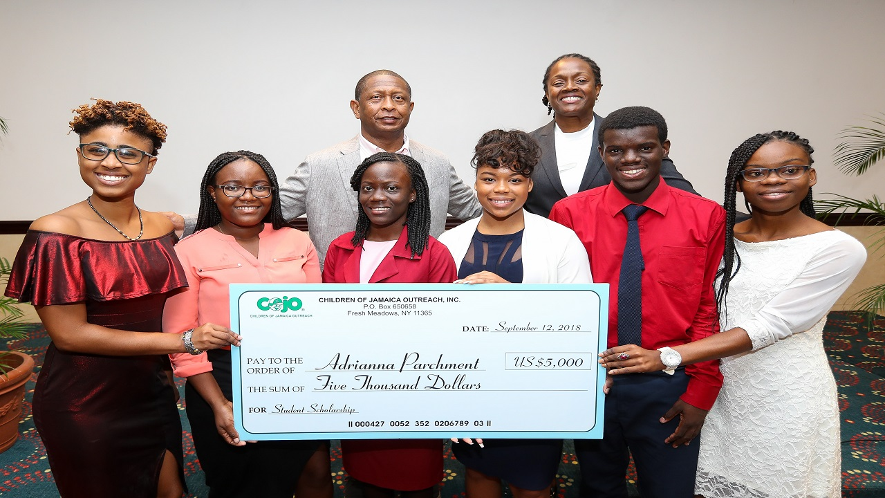 Recipients of the 2018 Children of Jamaica Outreach (COJO) Scholarship Awards.