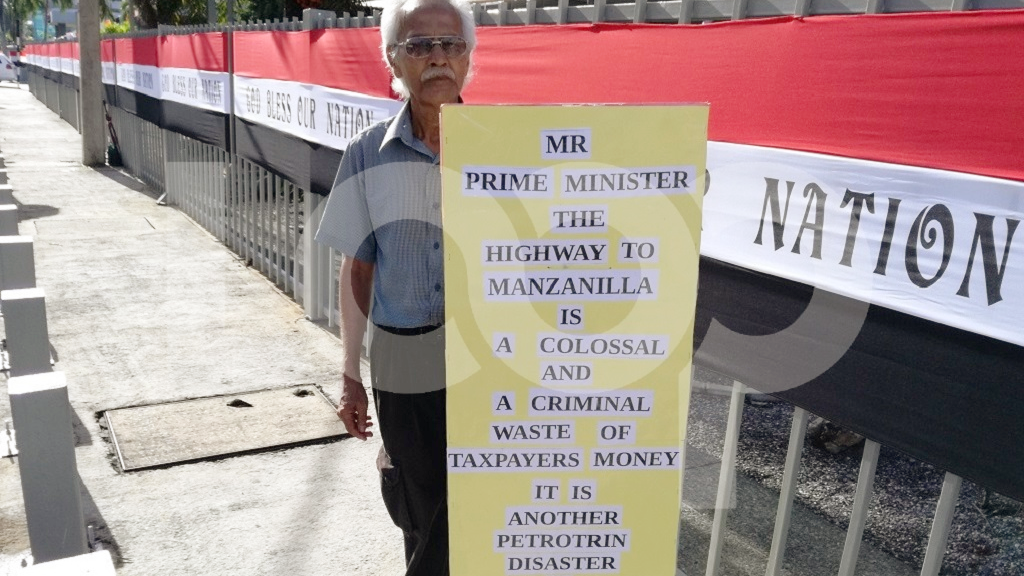 Photo: Ishmael Samad says there's no need for the proposed Manzanilla Highway. Photo by Alina Doodnath.