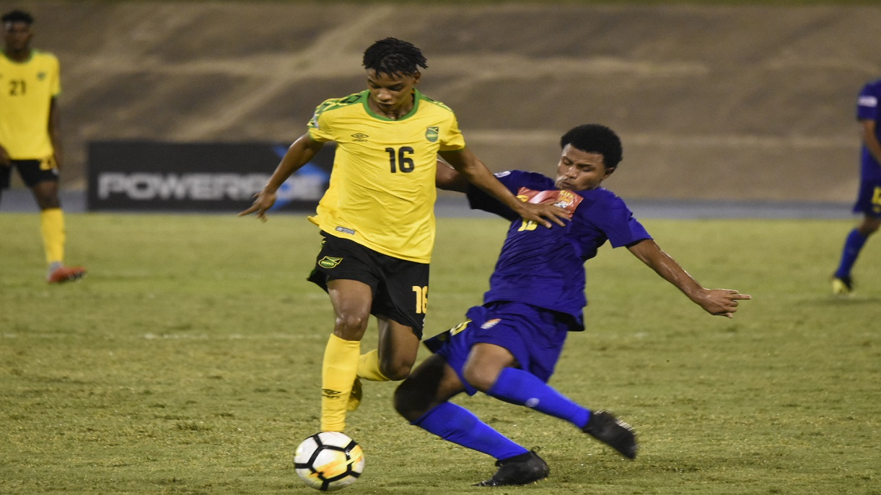 Action from the Concacaf Nations League match between Jamaica's Reggae Boyz and the Cayman Islands at the National Stadium in Kingston on Sunday, September 9, 2018. (PHOTOS: Marlon Reid).