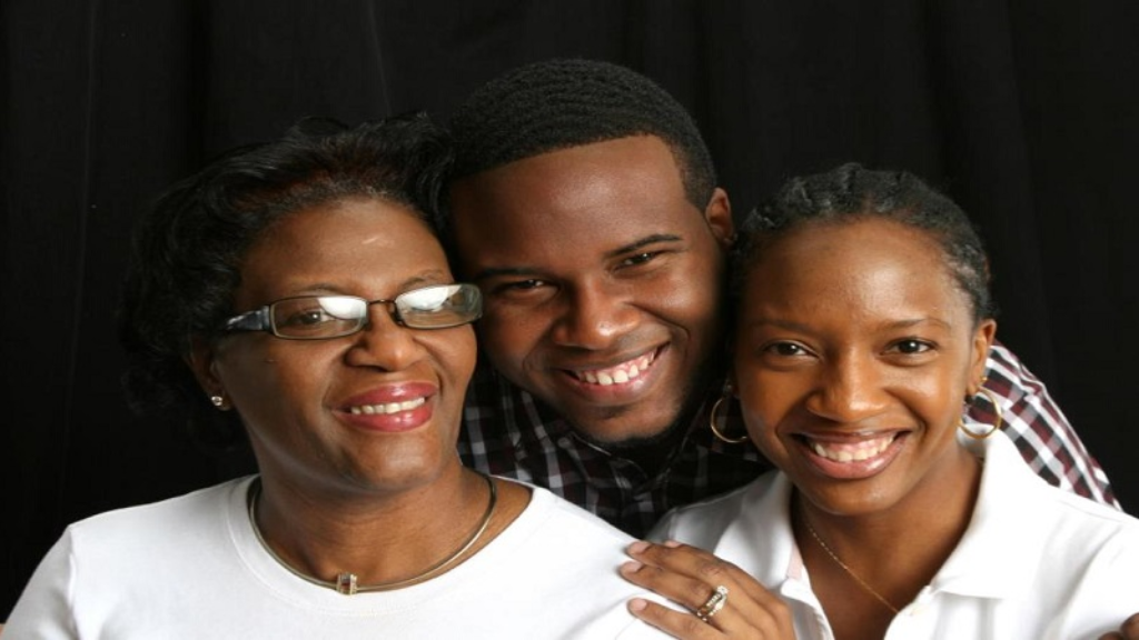 Allison Jean (left) with her late son Botham and daughter Allisa Charles-Findley