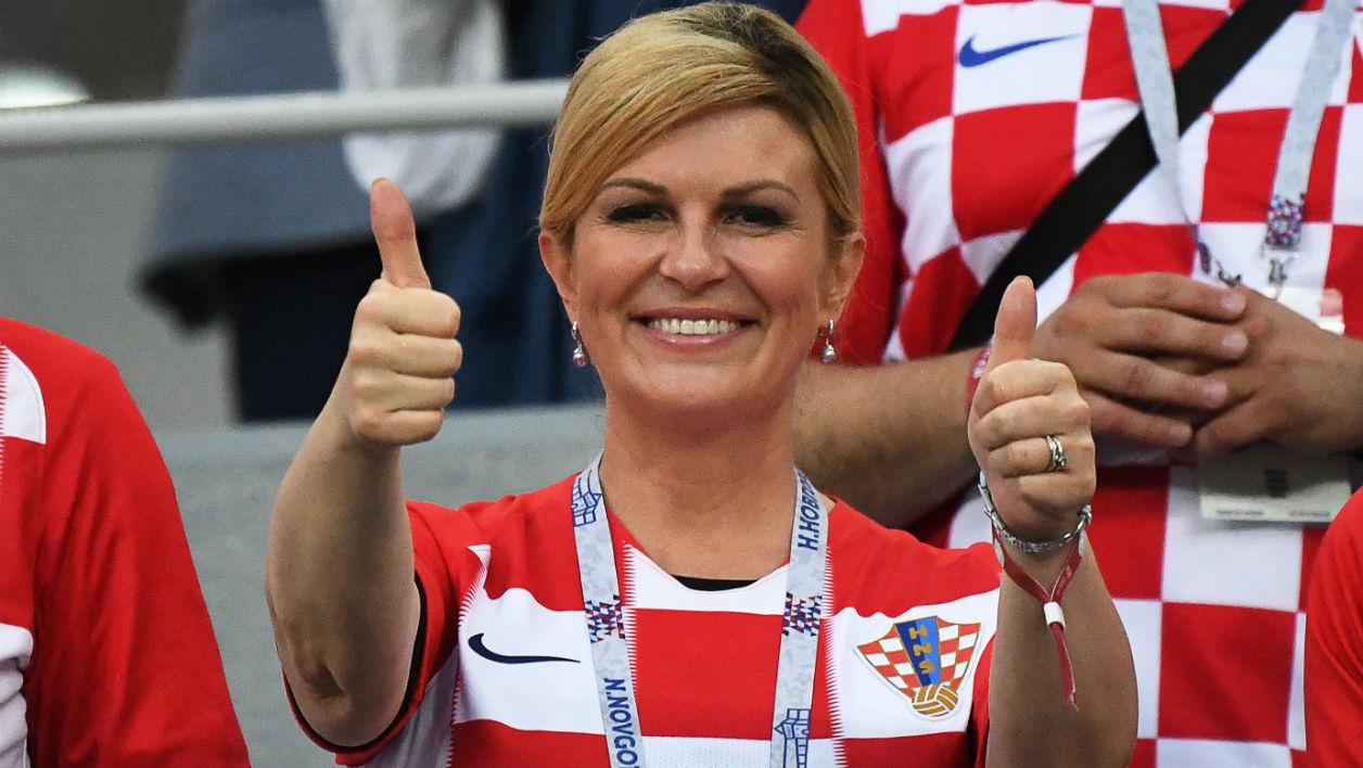 La présidente de la Croatie, Kolinda Grabar-Kitarovic - DIMITAR DILKOFF / AFP