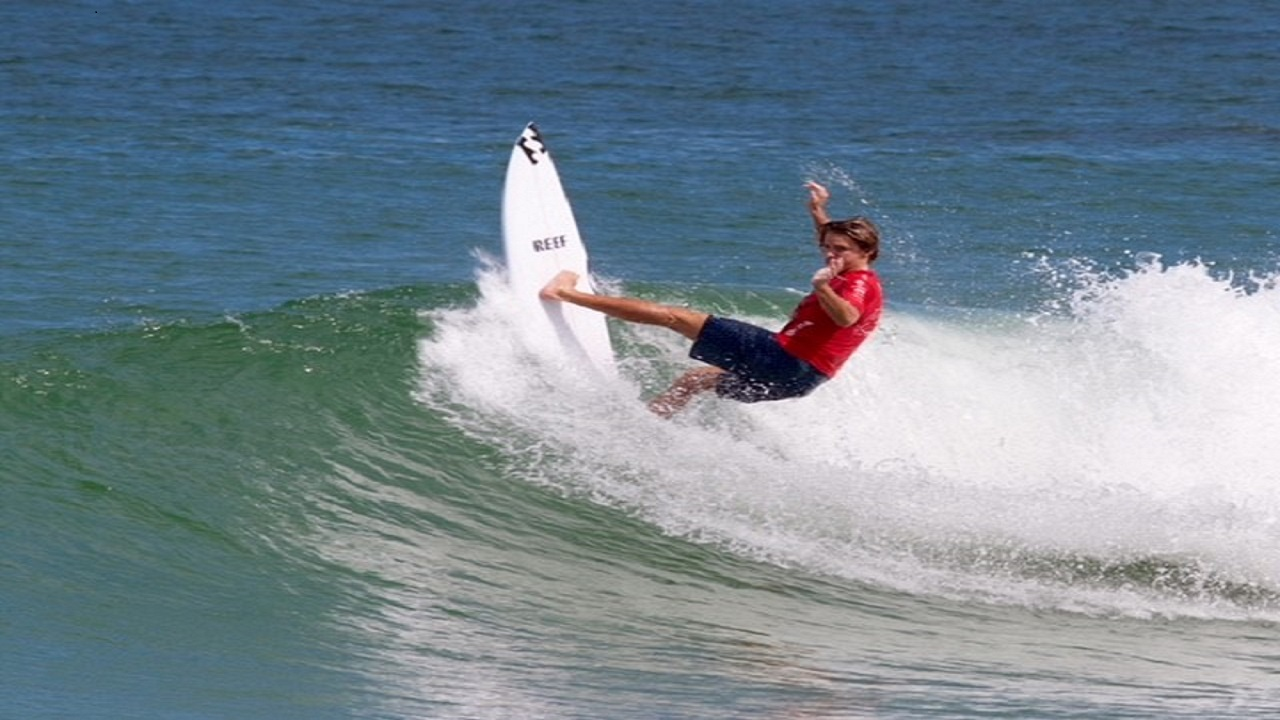 Fearless Josh Burke on his way to 5th place in OBX