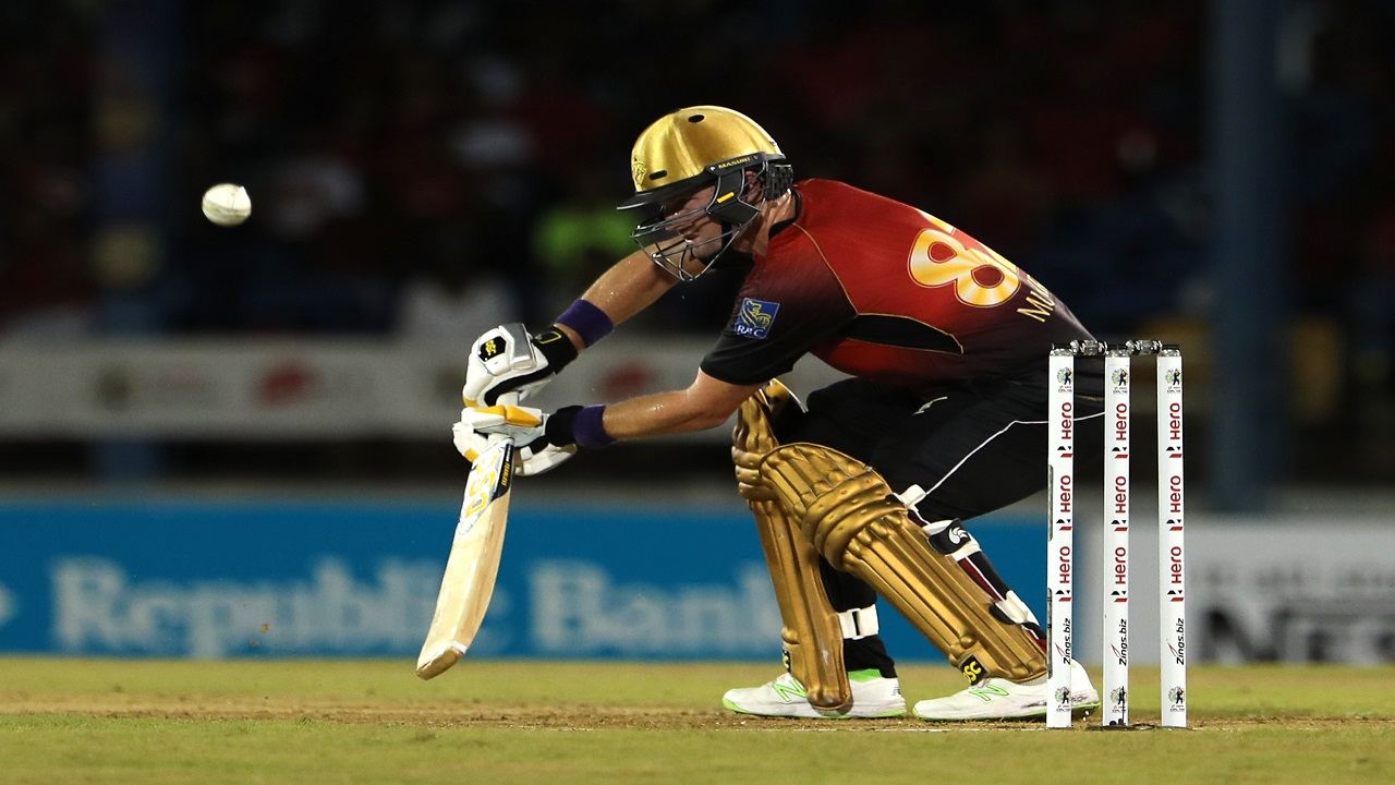 Colin Munro of Trinbago Knight Riders bats during the Hero Caribbean Premier League match against Guyana Amazon Warriors at Queen's Park Oval on September 5, 2018 in Port of Spain, Trinidad And Tobago. (PHOTO: CPL via Getty Images).