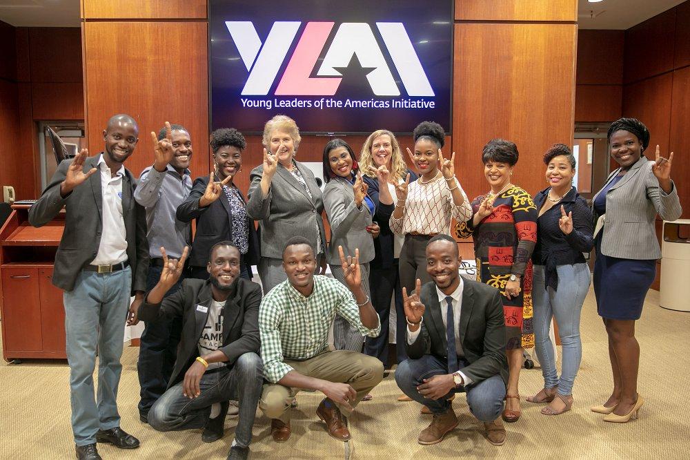 Les boursiers YLAI 2018 / Photo crédit : Ambassade des Etats-Unis en Haiti sur Twitter
