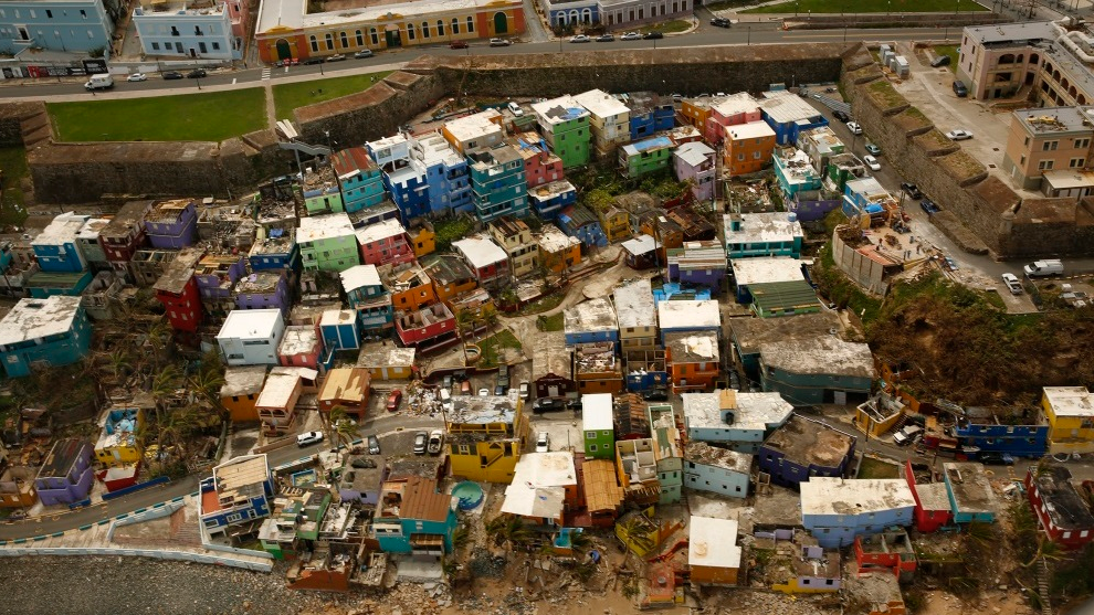 Photo: Puerto Rico following the passage of Category 5 Hurricane Maria in 2017.